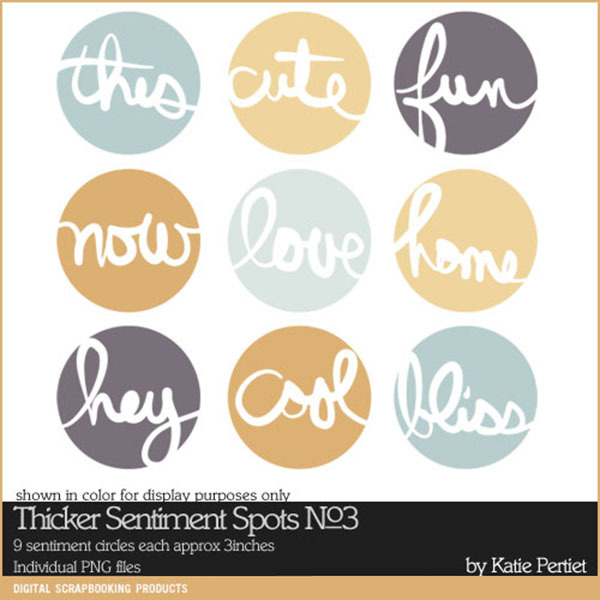 Thicker Sentiment Spots Brushes and Stamps No. 03 Digital Art - Digital Scrapbooking Kits