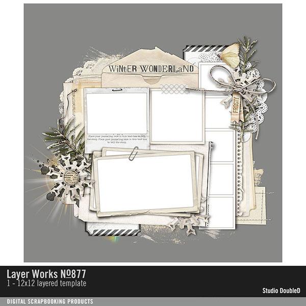 Layer Works No. 877 Digital Art - Digital Scrapbooking Kits