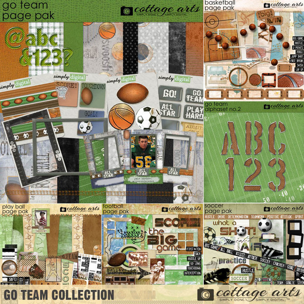 Go Team Collection Digital Art - Digital Scrapbooking Kits