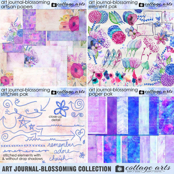 Art Journal - Blossoming Collection Digital Art - Digital Scrapbooking Kits
