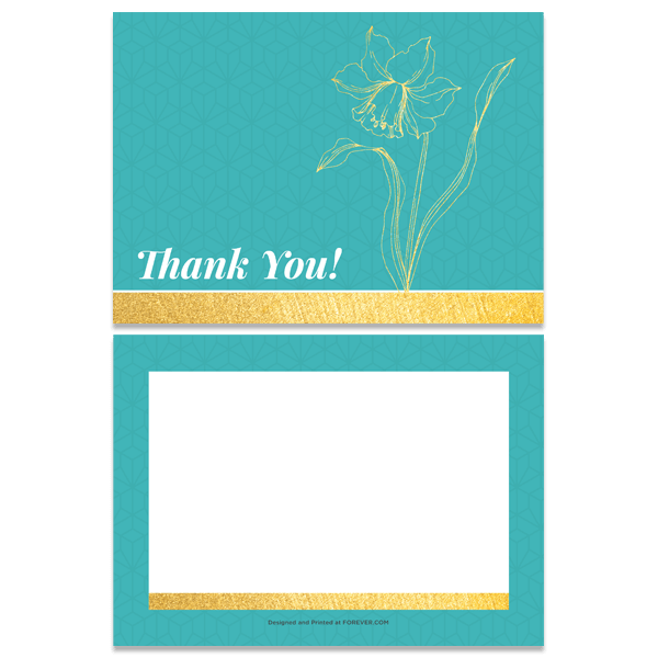 Daffodil Thank You Card