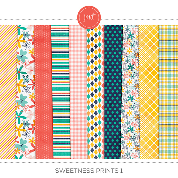 Sweetness Prints 1 Digital Art - Digital Scrapbooking Kits