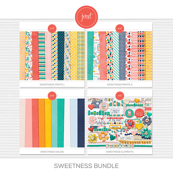 Sweetness Bundle Digital Art - Digital Scrapbooking Kits