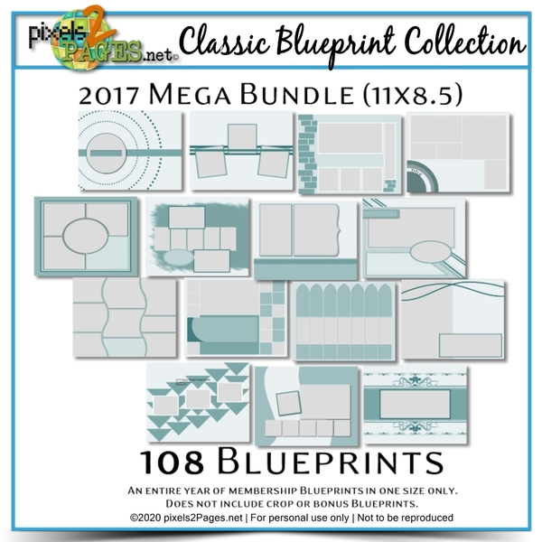 Classic Blueprint Collection 2017 - Mega Bundle (11x8.5) Digital Art - Digital Scrapbooking Kits