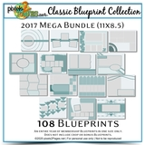 Classic Blueprint Collection 2017 - Mega Bundle (11x8.5)