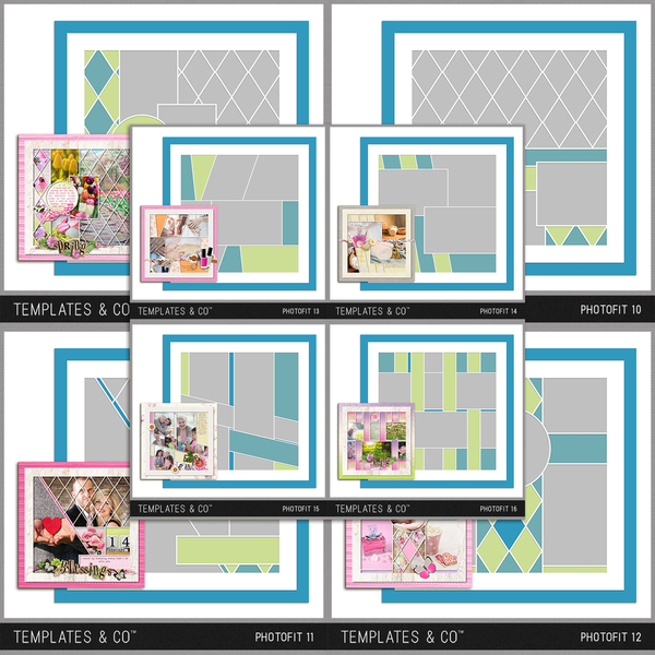 Photofit 9-16 Digital Art - Digital Scrapbooking Kits
