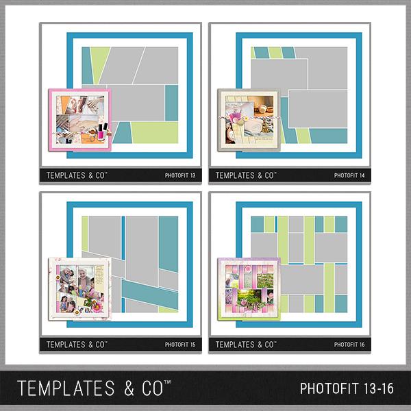 Photofit 13-16 Digital Art - Digital Scrapbooking Kits