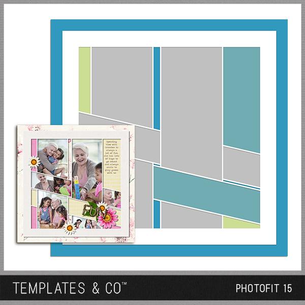 Photofit 15 Digital Art - Digital Scrapbooking Kits