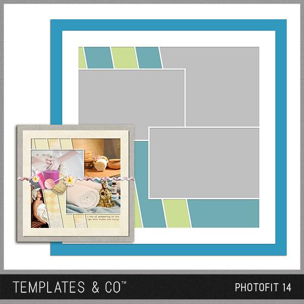 Photofit 14 Digital Art - Digital Scrapbooking Kits