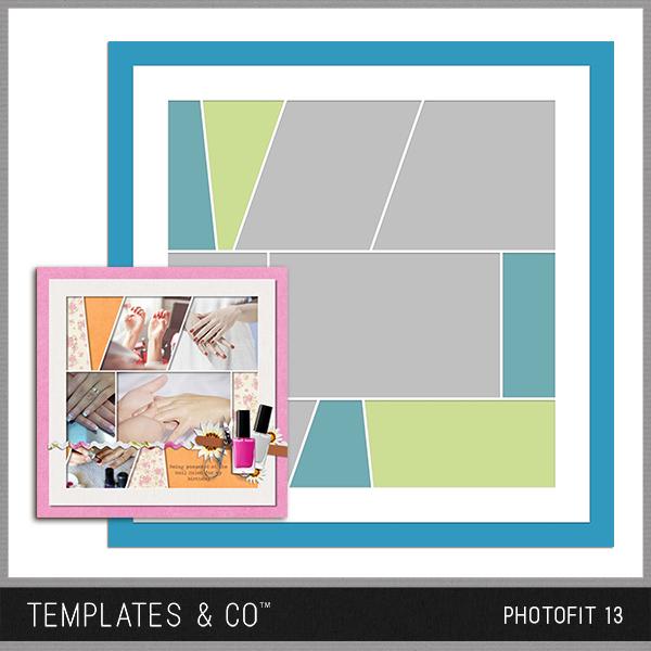 Photofit 13 Digital Art - Digital Scrapbooking Kits
