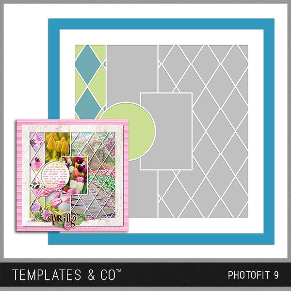 Photofit 9 Digital Art - Digital Scrapbooking Kits