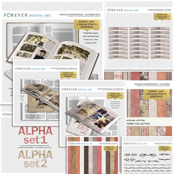 February Collector's Edition Mega Bundle Digital Art - Digital Scrapbooking Kits