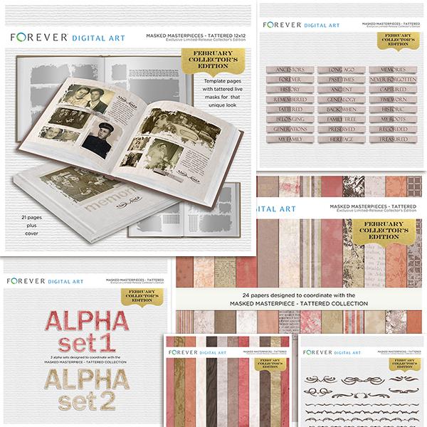 February Collector's Edition 12x12 Digital Art - Digital Scrapbooking Kits
