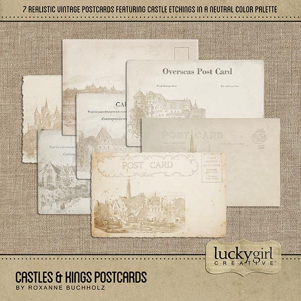 Castles & Kings Postcards Digital Art - Digital Scrapbooking Kits