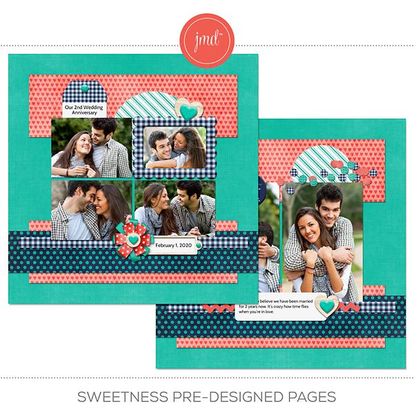 Sweetness Pre-Designed Pages Digital Art - Digital Scrapbooking Kits