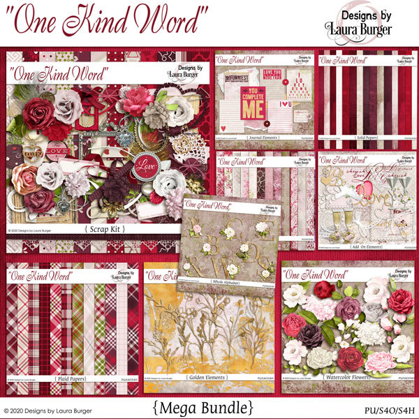 One Kind Word Mega Bundle Digital Art - Digital Scrapbooking Kits