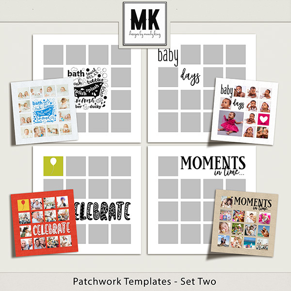 Patchwork Templates - Set Two Digital Art - Digital Scrapbooking Kits