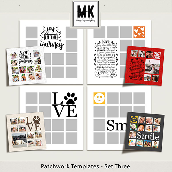 Patchwork Templates - Set Three Digital Art - Digital Scrapbooking Kits