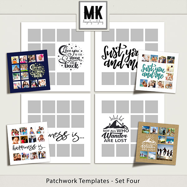 Patchwork Templates - Set Four Digital Art - Digital Scrapbooking Kits