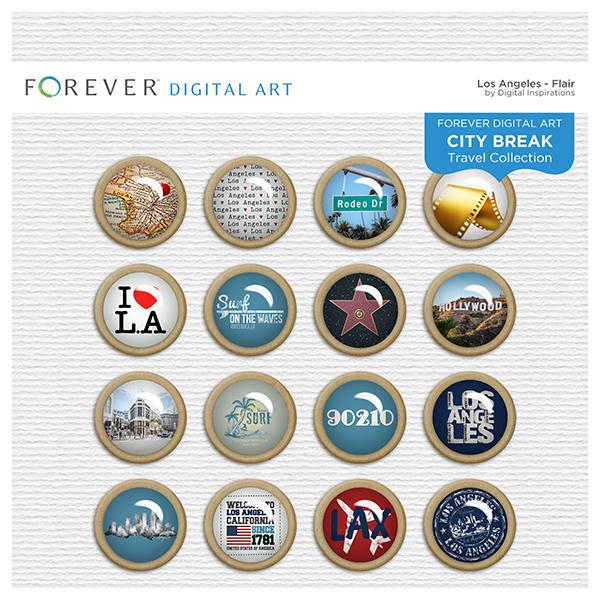 City Break - Los Angeles -  Flair Digital Art - Digital Scrapbooking Kits