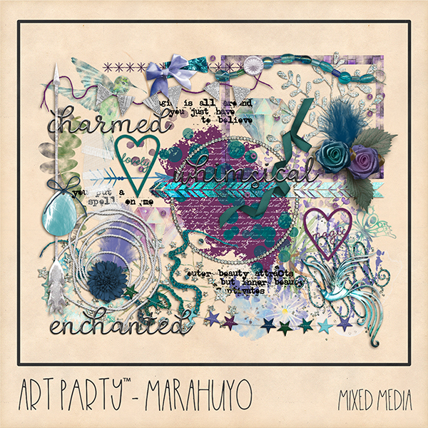 Marahuyo Mixed Media Embellishments Digital Art - Digital Scrapbooking Kits