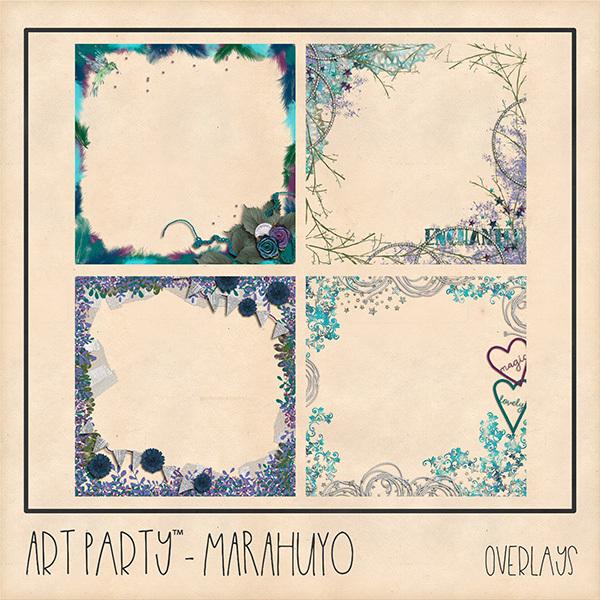 Marahuyo Overlays Digital Art - Digital Scrapbooking Kits