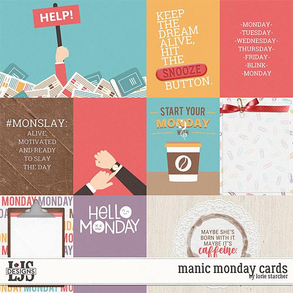 Manic Monday Cards Digital Art - Digital Scrapbooking Kits