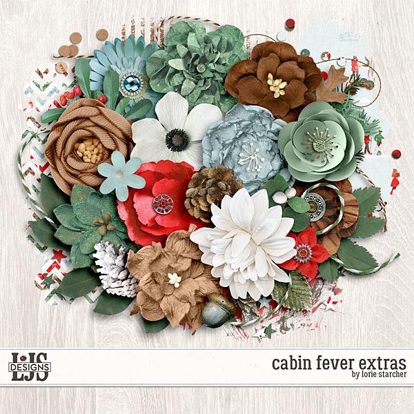 Cabin Fever Extras Digital Art - Digital Scrapbooking Kits