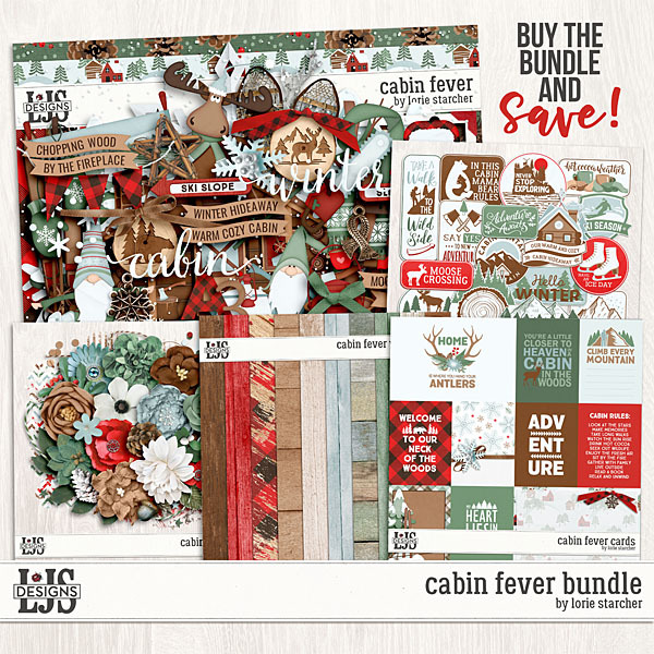 Cabin Fever Bundle Digital Art - Digital Scrapbooking Kits