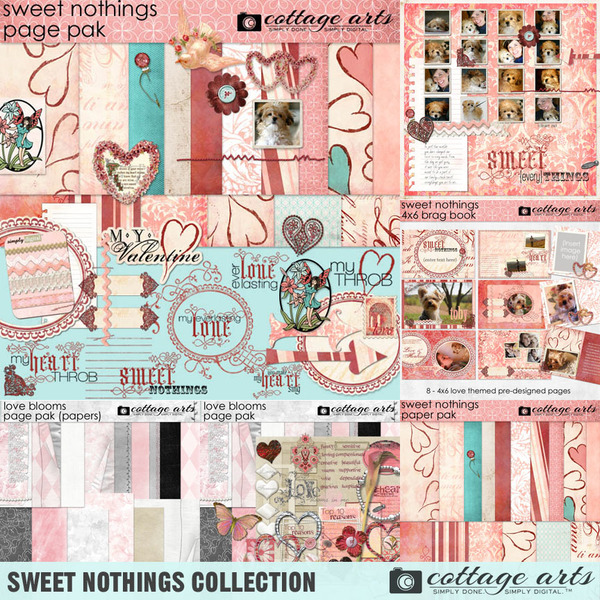 Sweet Nothings Collection Digital Art - Digital Scrapbooking Kits