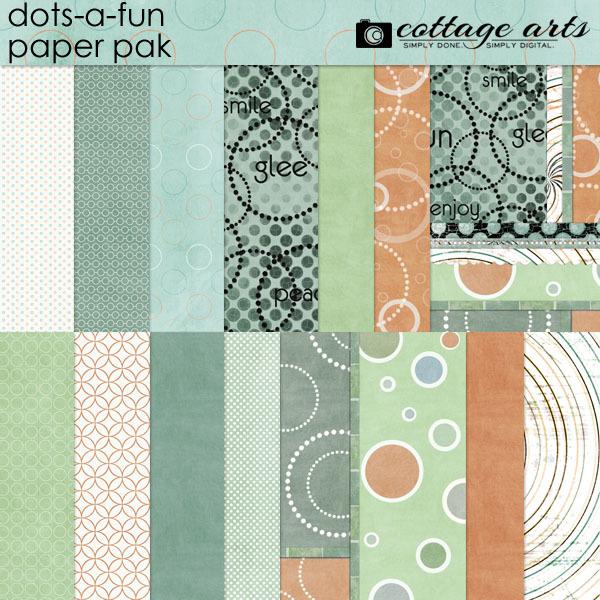 Dots-a-Fun Paper Pak Digital Art - Digital Scrapbooking Kits