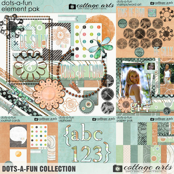 Dots-a-Fun Collection Digital Art - Digital Scrapbooking Kits