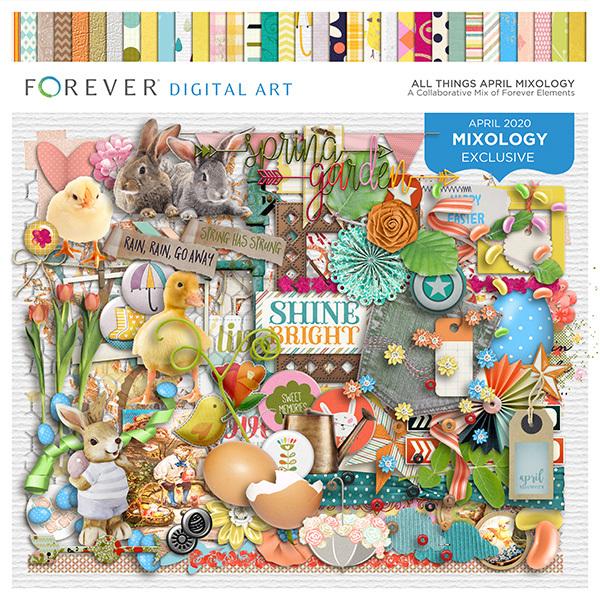 All Things April Mixology Digital Art - Digital Scrapbooking Kits
