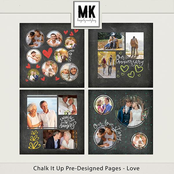 Chalk It Up Pre-Designed Pages - Love