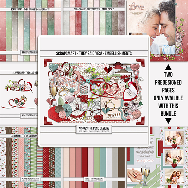 ScrapSmart - They Said Yes! - Bundle Digital Art - Digital Scrapbooking Kits