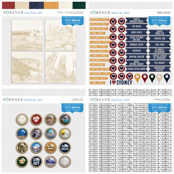 City Break - Sydney -  Bundle Digital Art - Digital Scrapbooking Kits
