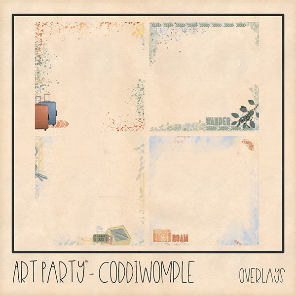 Coddiwomple Overlays Digital Art - Digital Scrapbooking Kits