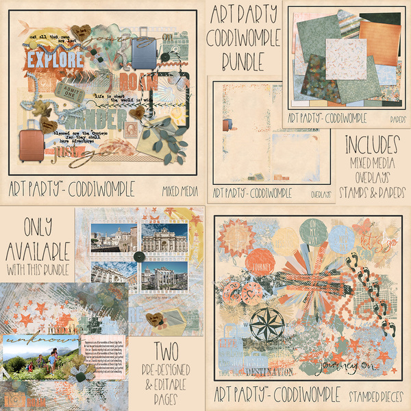 Coddiwomple Complete Collection Digital Art - Digital Scrapbooking Kits