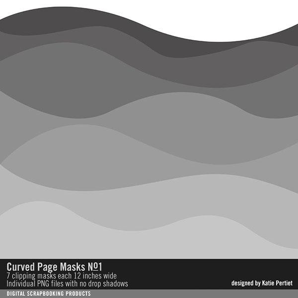 Curved Page Masks No. 01 Digital Art - Digital Scrapbooking Kits