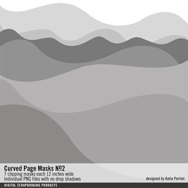 Curved Page Masks No. 02 Digital Art - Digital Scrapbooking Kits