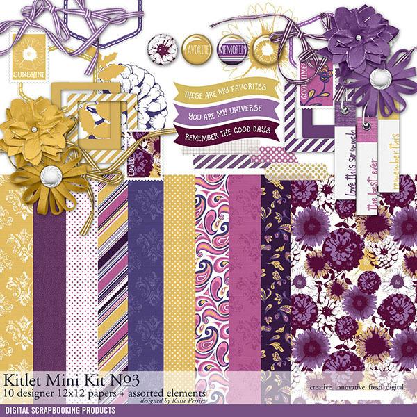 Kitlet Scrapbooking Mini-Kit No. 03 Digital Art - Digital Scrapbooking Kits