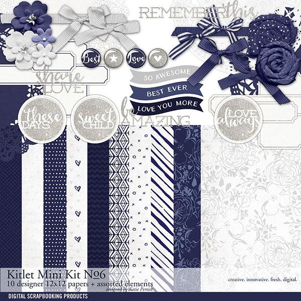 Kitlet Scrapbooking Mini-Kit No. 06 Digital Art - Digital Scrapbooking Kits
