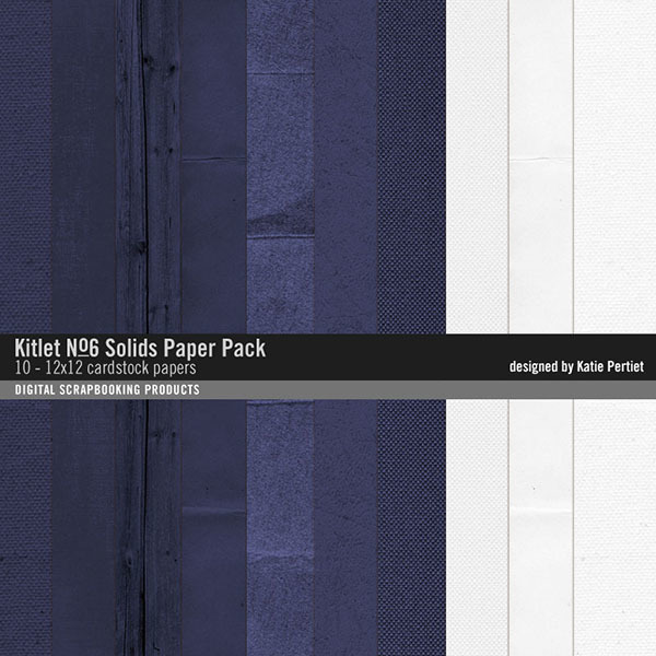 Kitlet Solids Paper Pack No. 06 Digital Art - Digital Scrapbooking Kits