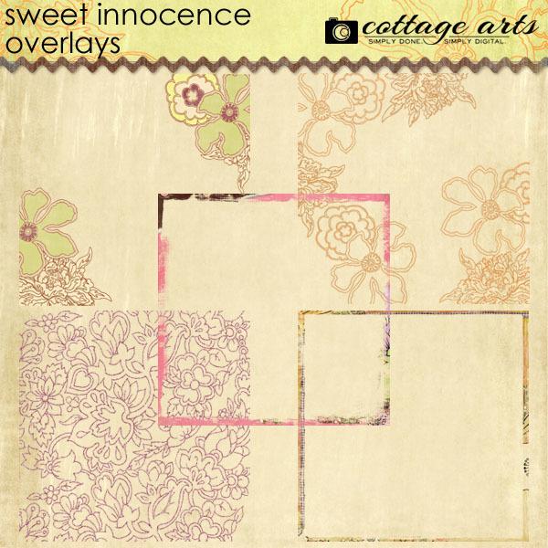 Sweet Innocence Overlays Digital Art - Digital Scrapbooking Kits