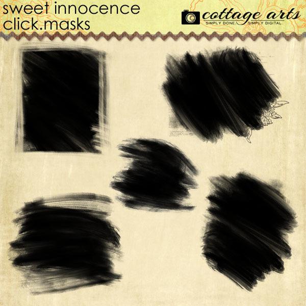 Sweet Innocence Click.Masks Digital Art - Digital Scrapbooking Kits