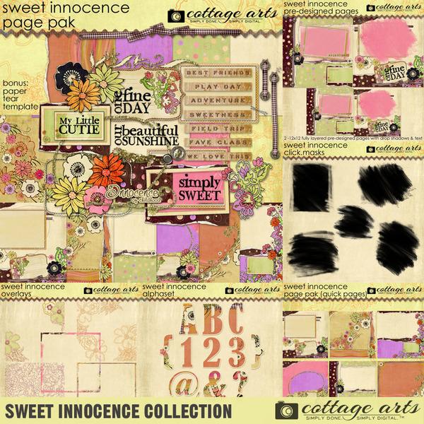 Sweet Innocence Collection Digital Art - Digital Scrapbooking Kits