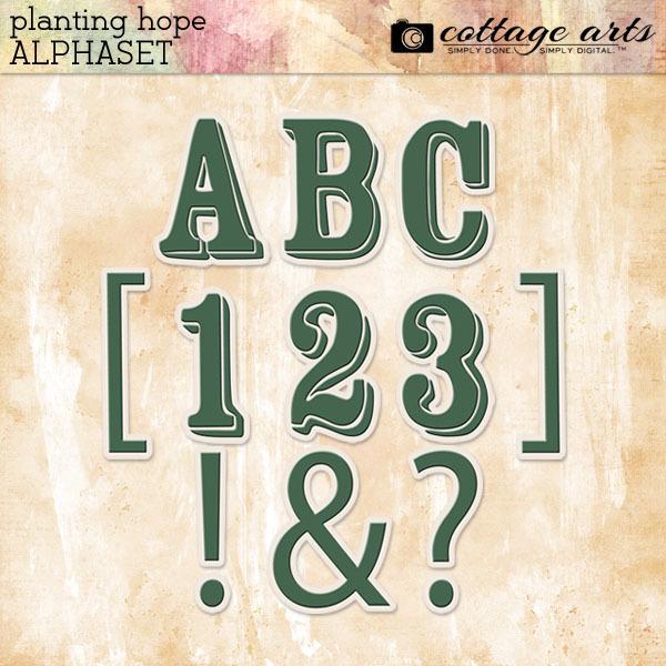 Planting Hope AlphaSet Digital Art - Digital Scrapbooking Kits