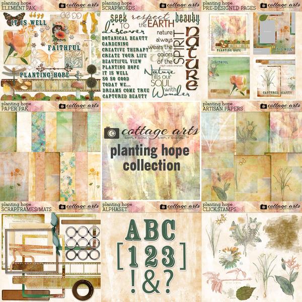 Planting Hope Collection Digital Art - Digital Scrapbooking Kits