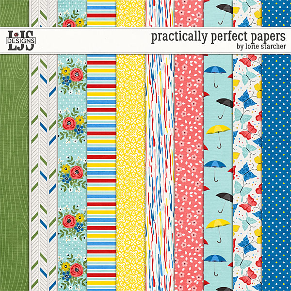 Practically Perfect Papers Digital Art - Digital Scrapbooking Kits