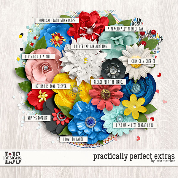 Practically Perfect Extras Digital Art - Digital Scrapbooking Kits